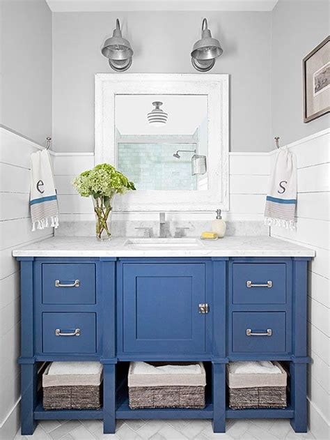 Nautical Bathroom Furniture Bathroom Decor Blue Vanity Center Stage And Vanities