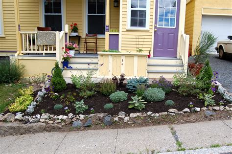 Front Yard Gardens Ideas Small Front Yard Landscaping Rustic Modern House Design With Raised Bed And Various Herb