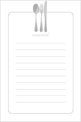4 menús para imprimir. 4 menus to print. | para imprimir