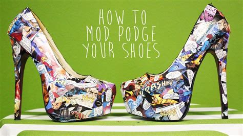 diy mod podge shoes diy comic book mod podged shoes