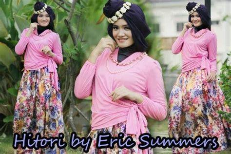 Kimono Flower Bahan Katun Rayon Ld100 busana muslim koleksi terbaru