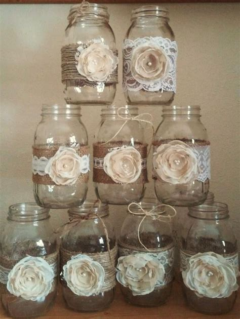 decorated jars ideas best 20 rustic jars ideas on jar