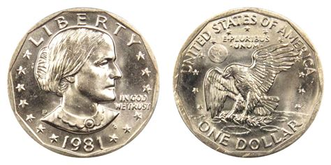 1981 d susan b anthony dollars value and prices