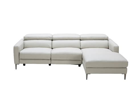 grey reclining sectional sofa divani casa booth modern light grey leather sectional sofa