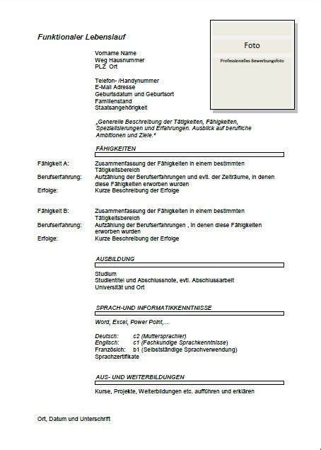 Lebenslauf Cv Template German Cv Template Lebenslauf Joblers
