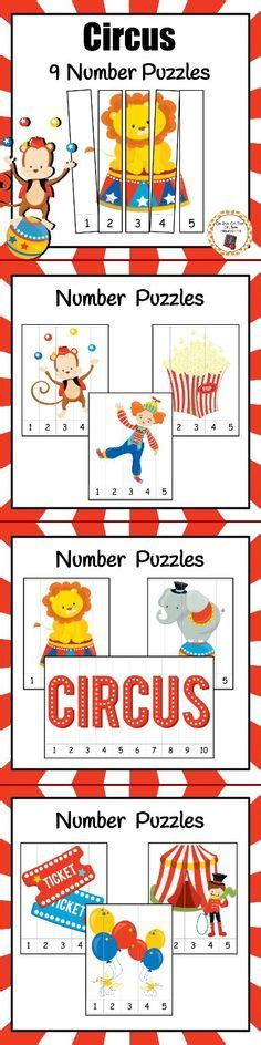 Thematic Magnet Puzzle Circus circus and park memory free printables