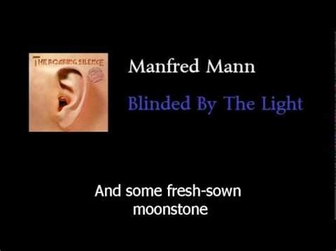 Blinded By The Light Manfred Mann by