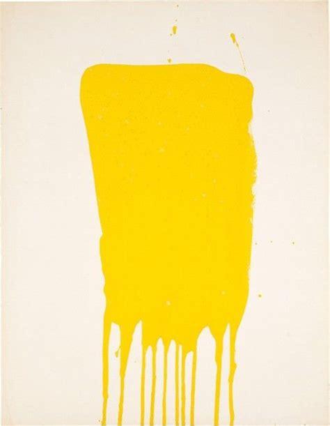 bright yellow paint yellow drip art pinterest