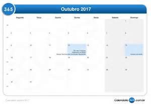Calendario 2018 Mes De Outubro Calend 225 Outubro 2017