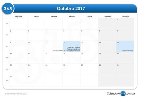 Calendario Lunar Outubro 2017 Calend 225 Outubro 2017