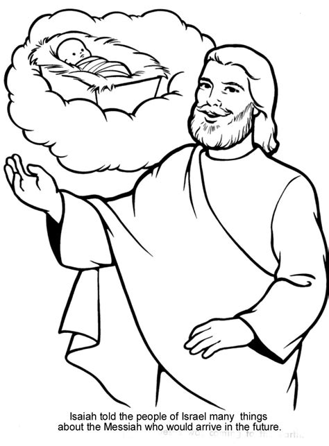 bible coloring pages jesus the prophecies of isaiah fulfilled