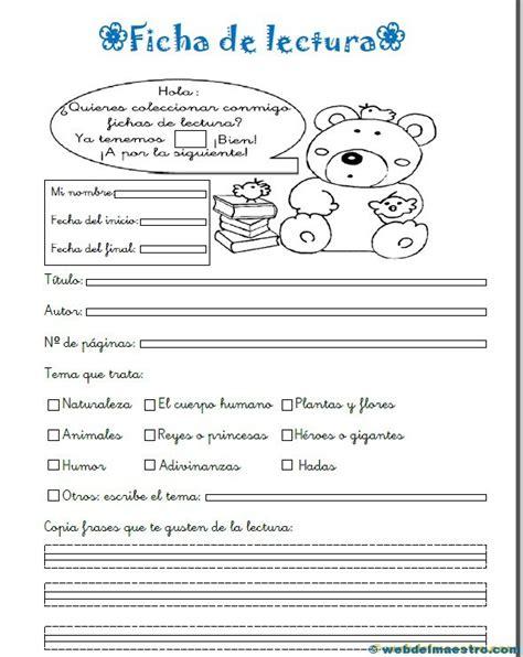 libro de lecturas de 3 grado de primaria 2015 2016 ficha de lectura web del maestro
