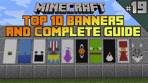youtube id pattern minecraft top 10 banner designs ep 19 with tutorial