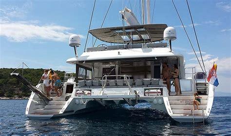 catamaran charter greece skippered lagoon 620 catamaran skippered charter in croatia book2sail