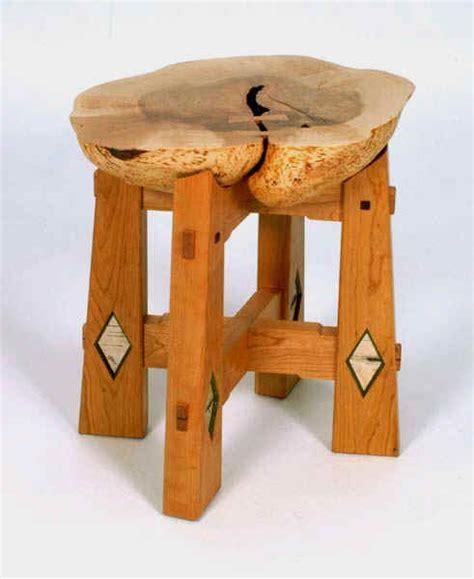 swallowtail studio burl stool