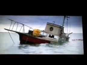 jaws sunken boat jaws orca sinking in reverse youtube