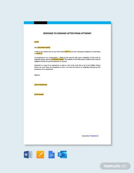 response termination contract letter template