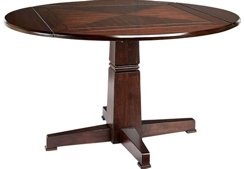 Riverdale Cherry Round Dining Table   Dining Tables Dark Wood