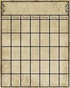 Pretty Calendar Template by Vintage Calendar Template Printable Free Pretty Printables