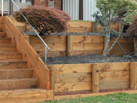 How To Build A Garden Wall by How To Build Wood Retaining Wall Pdf Woodworking