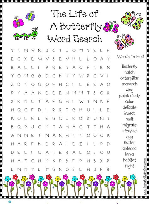 Search And Find For Free Butterfly Word Search Printables Free Printables