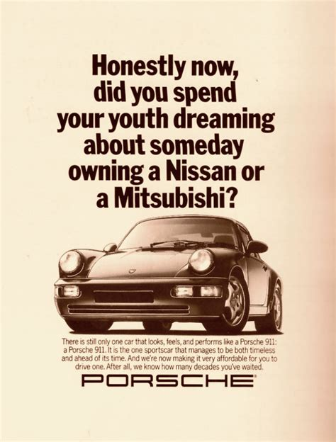vintage porsche ad great copywriting sles feast your brain on these