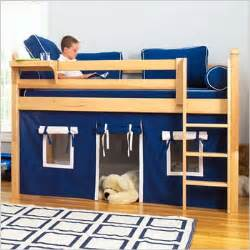 Toddler Handrail Maxtrix Kids Twin Low Loft Bed With Underbed Curtain