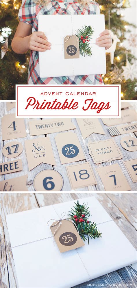 printable advent calendar tags simple mason jar gifts with printable tags simple as