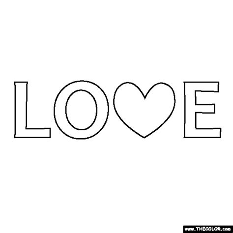 coloring pictures of love words free online coloring pages thecolor