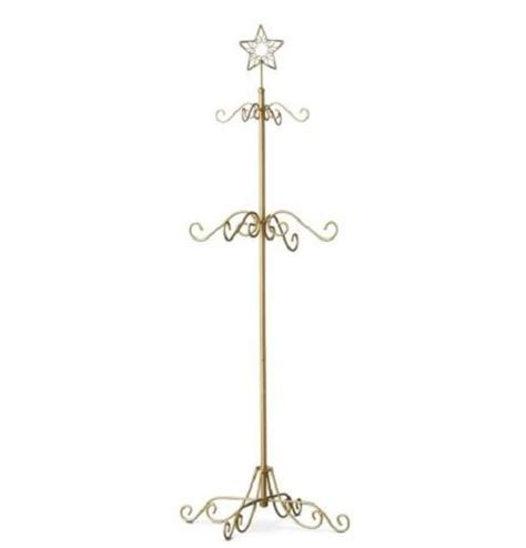 black or gold metal christmas tree stocking hanger holder