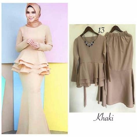 Baju Peplum baju kurung peplum fesyen muslimah di carousell