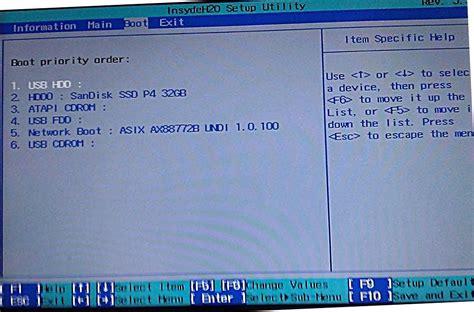 Asus Laptop Bios Ayarlari Resimli Anlatim lenovo g500 format atma ve windows kurulumu