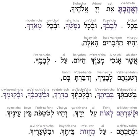 the torah hebrew transliteration and translation in 3 line segments the 5 books of the bible with hebrew transliteration translation in 3 line format line by line books transliteration of the shema prayer