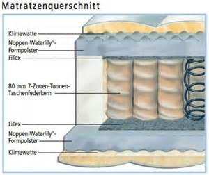 taschenfederkern matratze hukla studioline 400 taschenfederkern matratze in h2 bis
