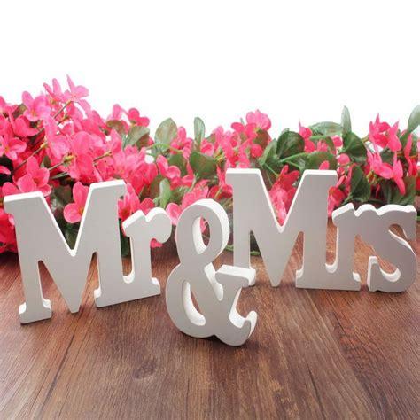 home wedding decoration ideas romantic decoration wedding decorations 3 pcs set mr mrs romantic mariage