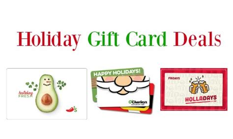 Gift Card Special Offers - holiday gift card deals o charley s chili s more southern savers