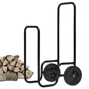 Wheels Storage Truck Carrying Log Carrying Storage Trolley Firewood Cart Basket Holder