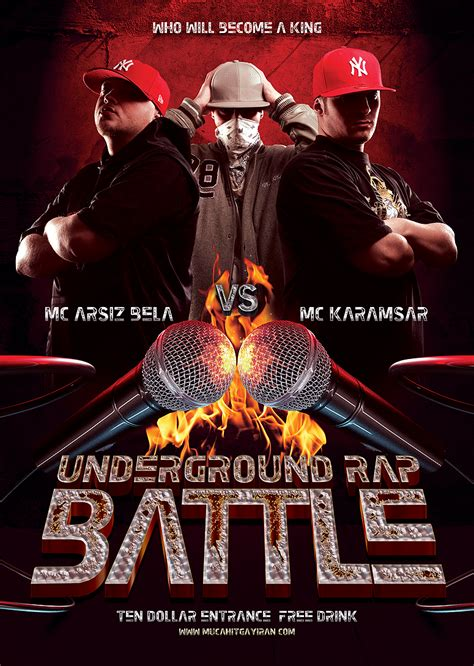 free hip hop flyer templates underground rap hiphop battle flyer template by