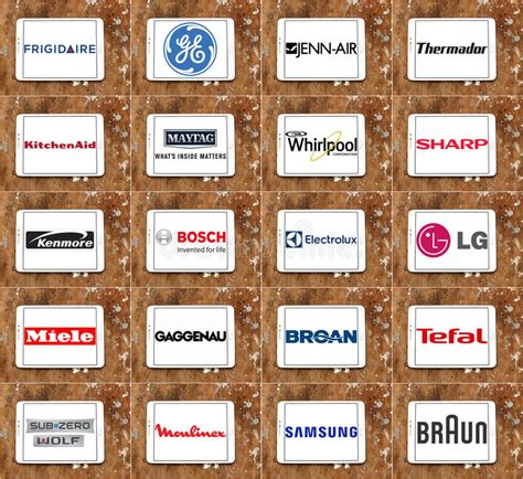 What Is The Best Appliance Brand For Kitchen by Top Kitchen Appliance Brands And Logos Editorial