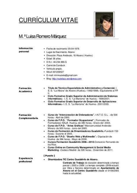 Modelo Curriculum Vitae Tecnico Informatica Curriculum Vitae