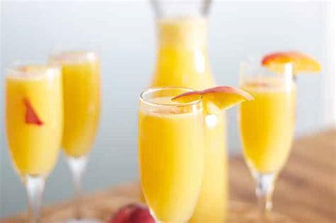 peachy mimosas recipe dishmaps