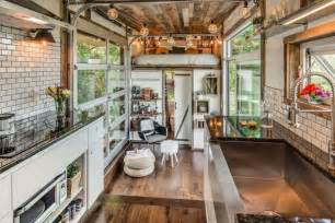 Completely Open Floor Plans Luxurious Alpha Tiny House Opens Wide On Both Sides To Let