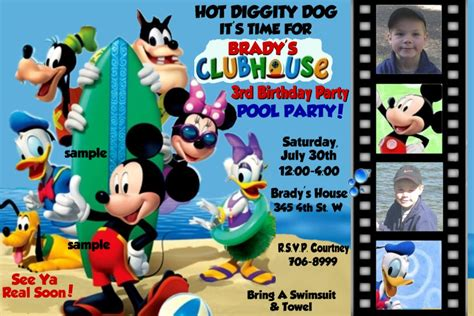 free printable mickey mouse 1st birthday party invitations diy