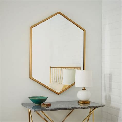 marco manufacturing fireplace miroir hexagone west elm pickture