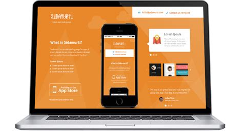 Free Sidamurti App Landing Page Template Psd Titanui Mobile App Landing Page Template