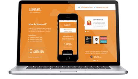 app landing page template free free sidamurti app landing page template psd titanui