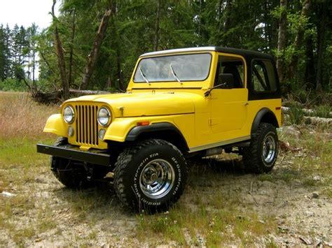cj jeep yellow yellow cj7 jeep