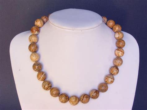 gemstone necklace picture jasper large 14 mm