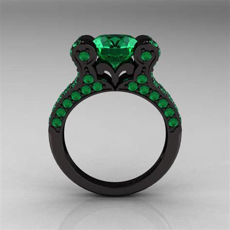 vintage 14k black gold 3 0 ct emerald pisces
