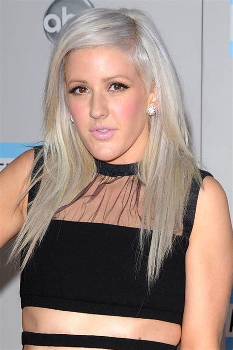 grey blonde hairstyles ellie goulding new hair grey blonde hue glamour com uk